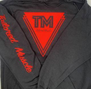 Tailored Muscle Hoodie - Red