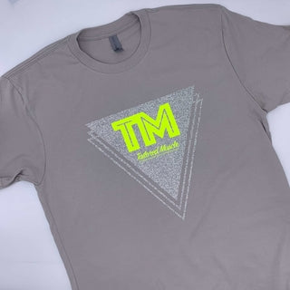 Image of Tailored Muscle - Glitter Silver &  Neon Yellow