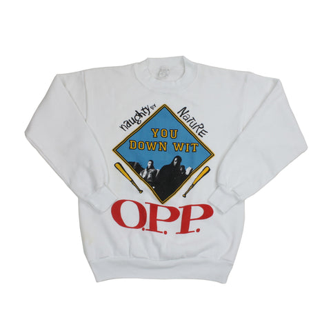 "Vintage 1990's Naughty By Nature ""O.P.P."" Sweatshirt - M"