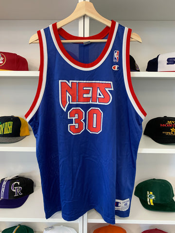 Vintage Champion New Jersey Nets Kerry Kittles Jersey 48
