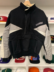 Vintage 90's Oakland Raiders Fleece Pullover - L