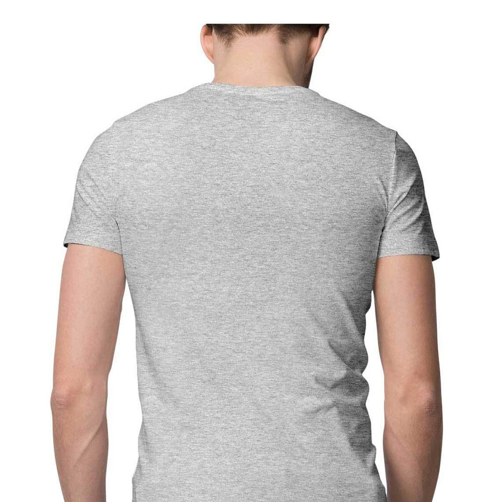 solid Melange Grey Tee - Half sleeve - men
