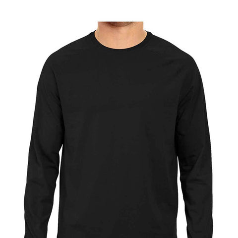 solid Black Tee - full sleeve - men
