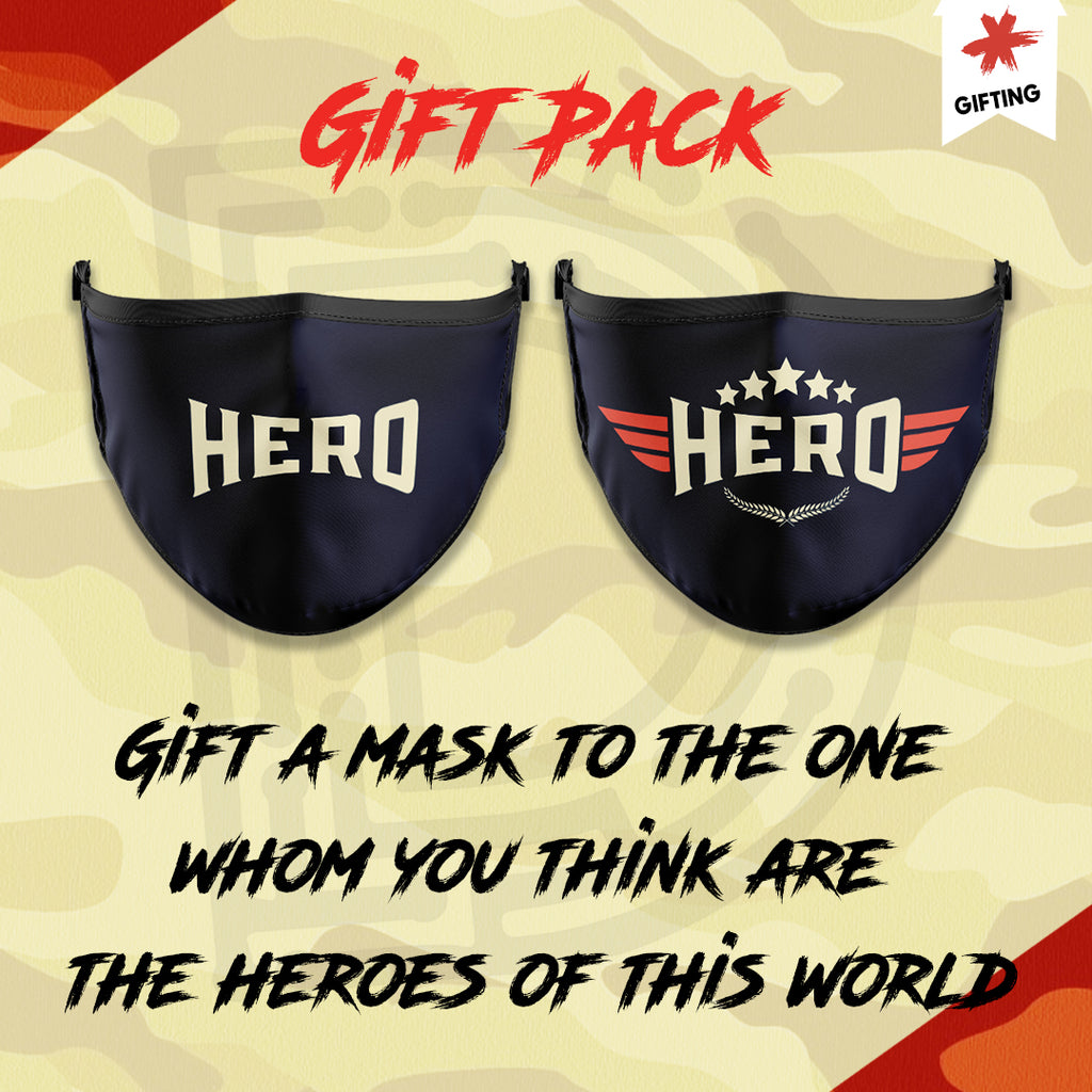 Gift these Hero masks to Real Heroes - pack of 2