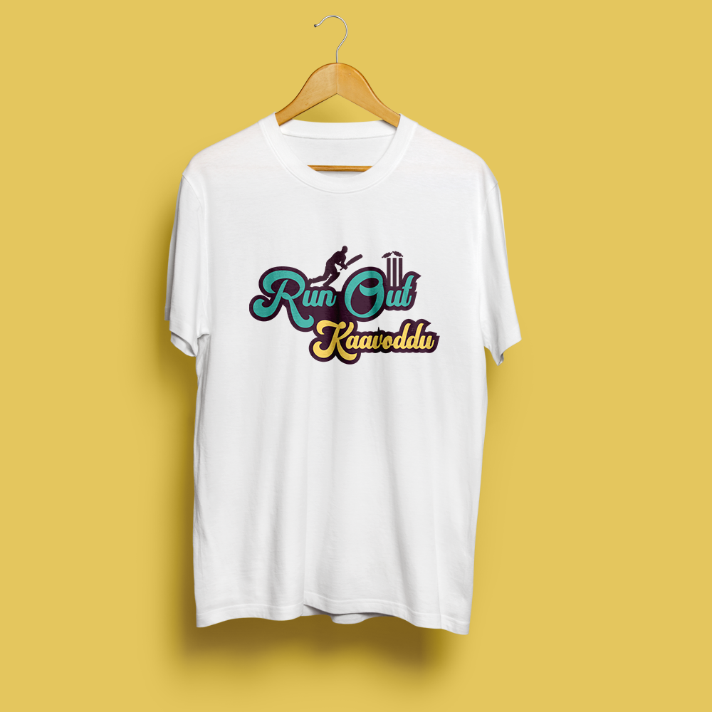 Run Out Kaavoddu - Cricket Special Tee