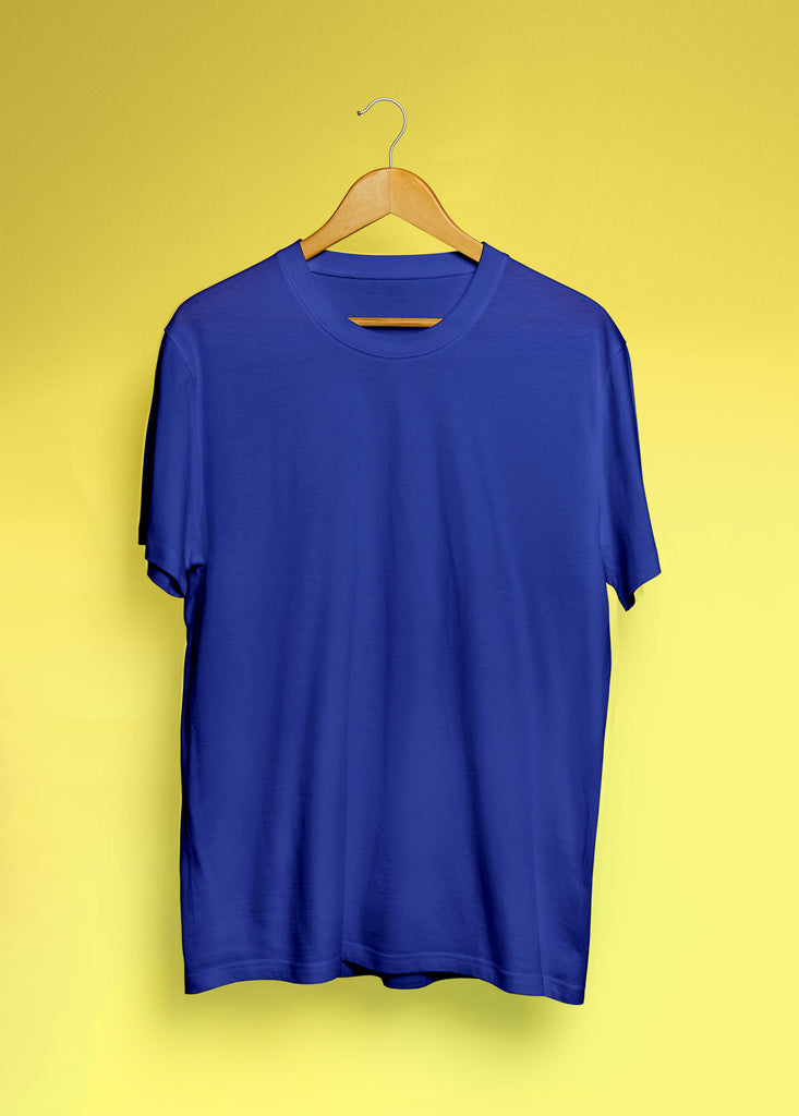 solid Royal Blue Tee - Half sleeve - men