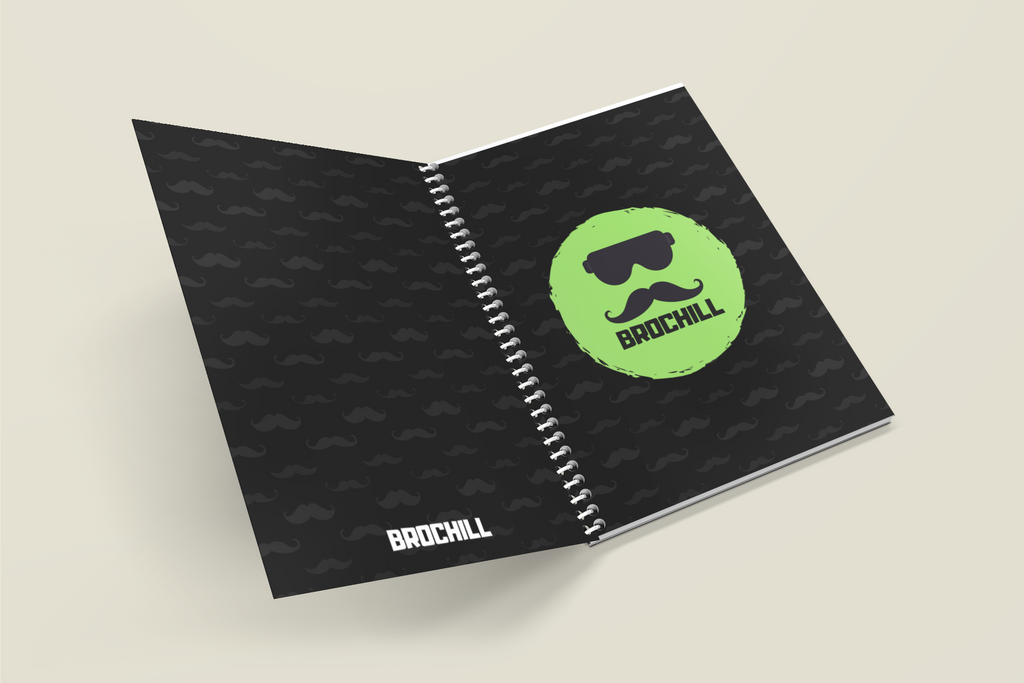 Bro Chill Note Book - Black Minimal