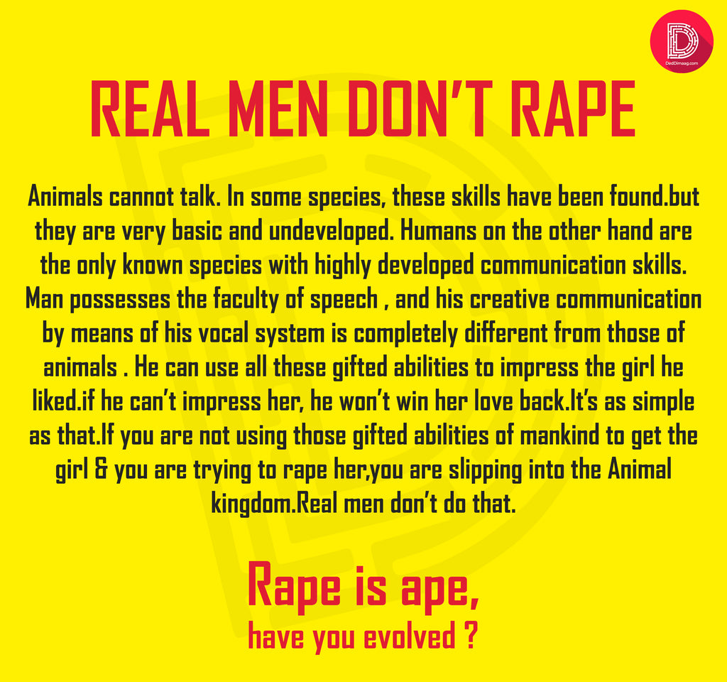 Real Men Don't Rape women's Tee