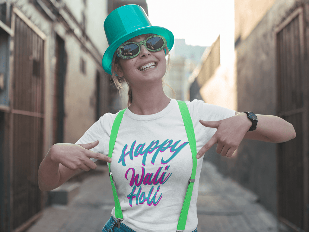 Happy Wali Holi-womens tee
