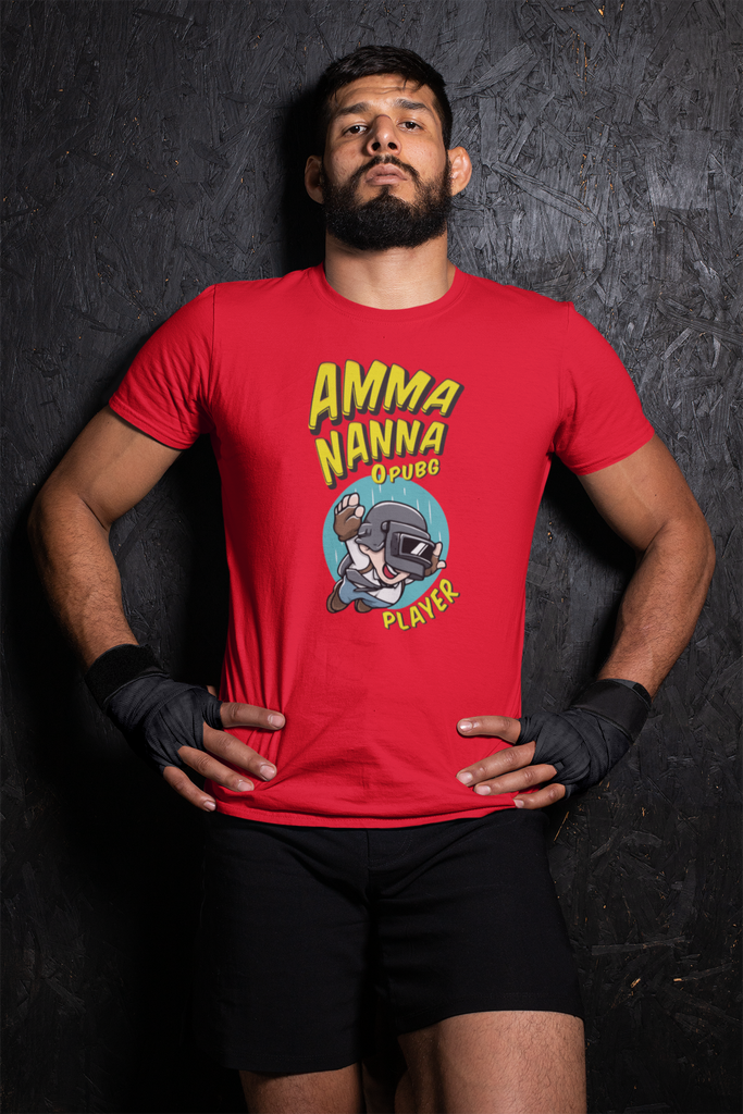Amma Nanna O PubG Player T-shirt