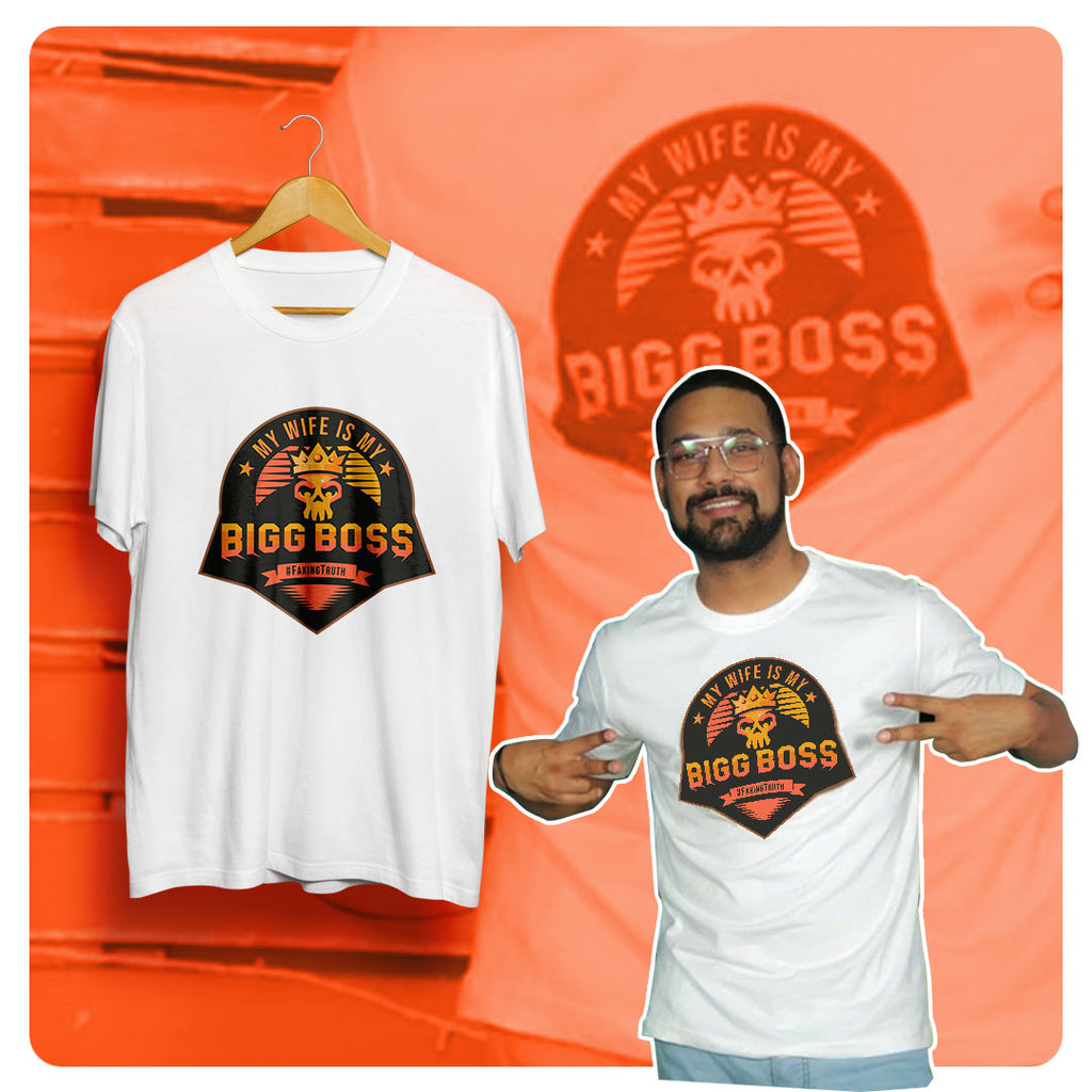 My wife is my Big Boss Tshirt