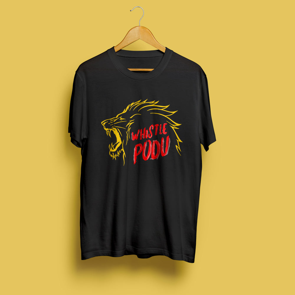 Whistle Podu - cricket special Tee Black
