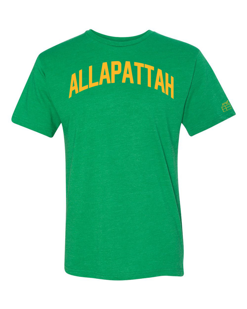 Green Allapattah Miami T-shirt w/ Yellow Reflective Letters