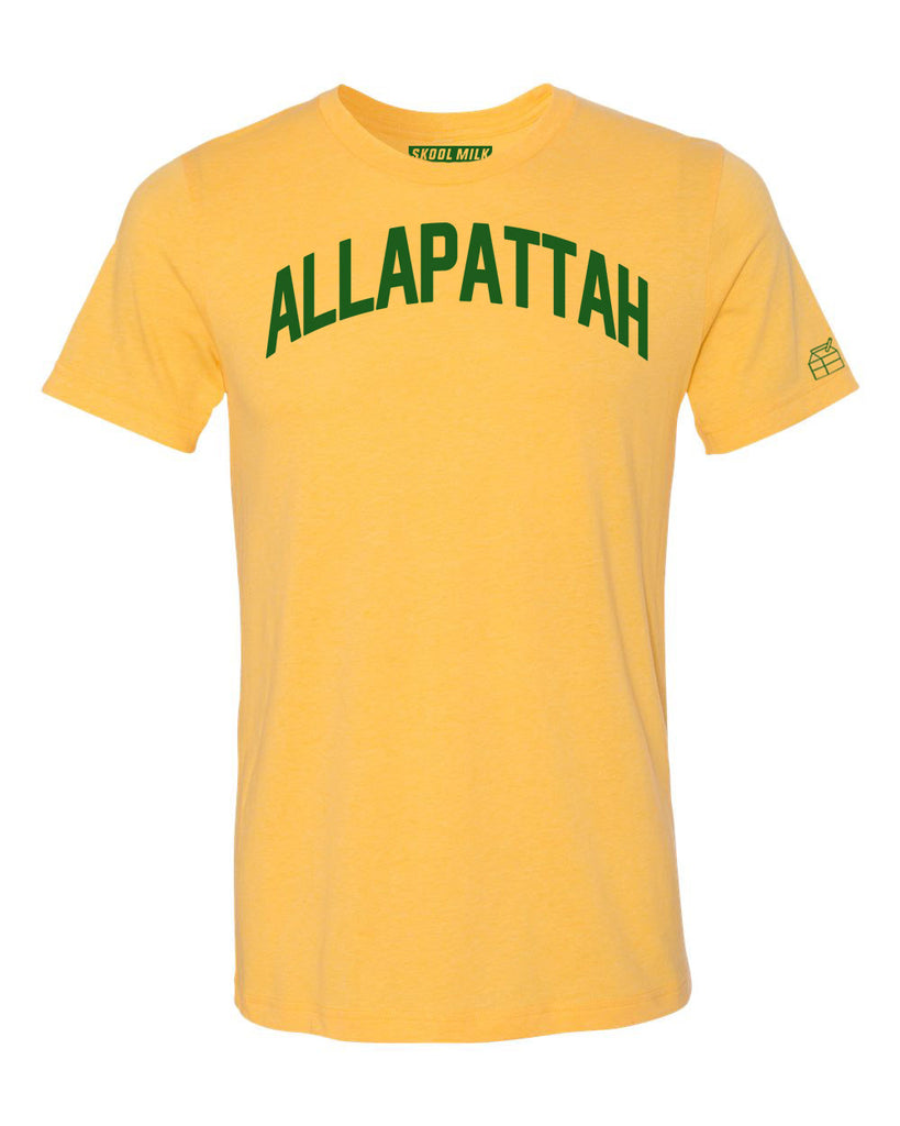 Yellow Allapattah Miami T-shirt w/ Green Reflective Letters