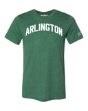 Green Arlington T-shirt with White Reflective Letters