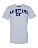 Sky Blue Battery Park City T-shirt with Blue Letters