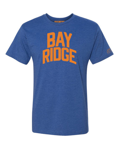 Blue Bay Ridge T-shirt with Knicks Orange Letters