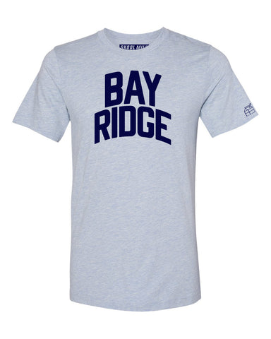 Sky Blue Bay Ridge T-shirt with Blue Letters