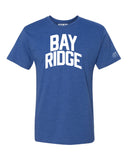 Blue Bay Ridge T-shirt with White Reflective Letters