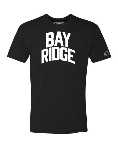 Black Bay Ridge T-shirt with White Reflective Letters