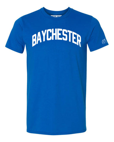 Blue Baychester T-shirt with White Reflective Letters