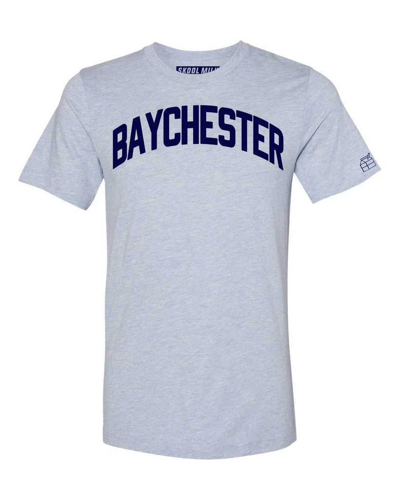 Sky Blue Baychester Bronx T-Shirt with Blue Letters