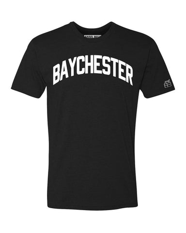 Black Baychester T-shirt with White Reflective Letters