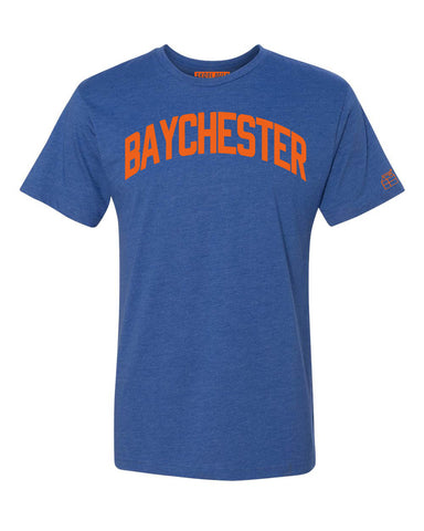 Blue Baychester T-shirt with Knicks Orange Letters