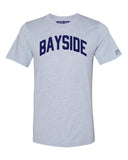 Sky Blue Bayside T-shirt with Blue Letters
