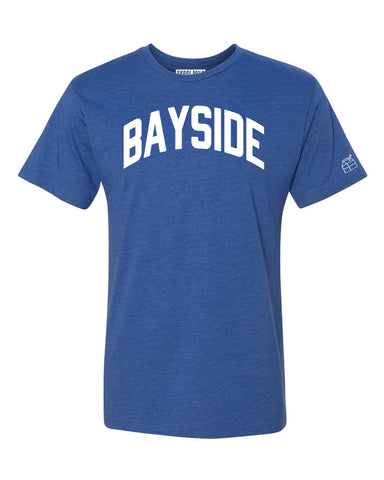 Blue Bayside T-shirt with White Reflective Letters