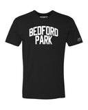 Black Bedford Park T-shirt with White Reflective Letters