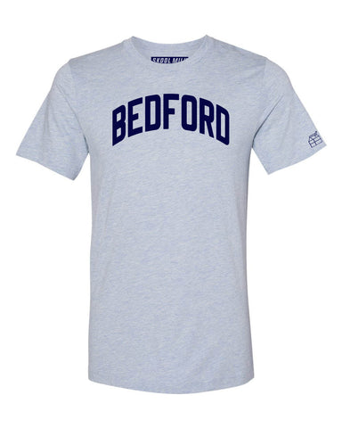 Sky Blue Bedford Bronx T-Shirt with Blue Letters
