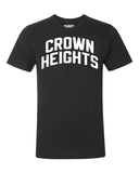 Black Crown Heights Brooklyn T-shirt with White Reflective Letters