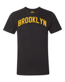 Black Brooklyn T-shirt with Yellow Reflective Letters #LemonPepper