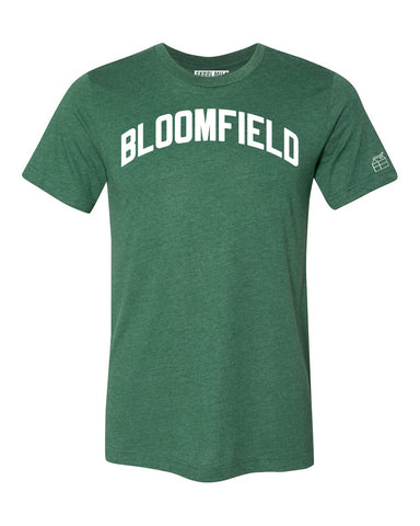 Green Bloomfield T-shirt with White Reflective Letters