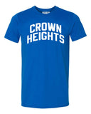 Blue Crown Heights Brooklyn T-shirt with White Reflective Letters