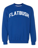 Blue Flatbush Sweatshirt with White Reflective Letters