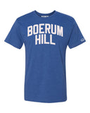 Blue Boerum Hill Brooklyn T-shirt with White Reflective Letters