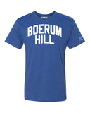 Blue Boerum Hill T-shirt with White Reflective Letters