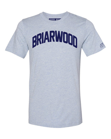 Sky Blue Briarwood T-shirt with Blue Letters