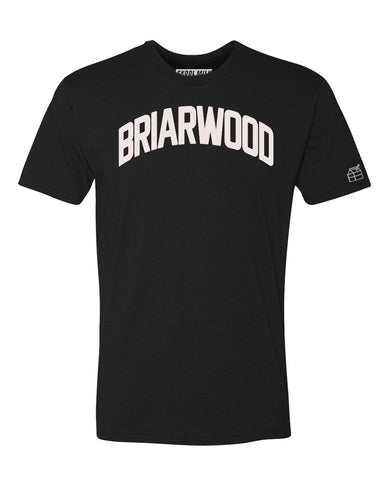 Black Briarwood T-shirt with White Reflective Letters