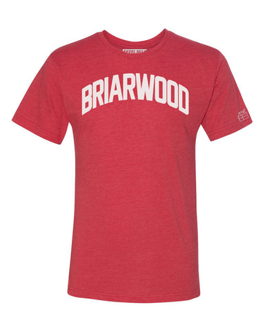 Red Briarwood T-shirt with White Reflective Letters