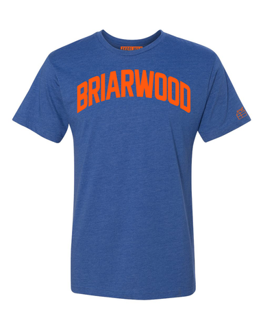 Blue Briarwood T-shirt with Knicks Orange Letters