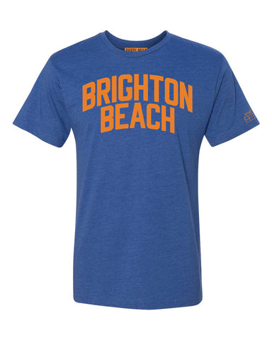 Blue Brighton Beach T-shirt with Knicks Orange Letters