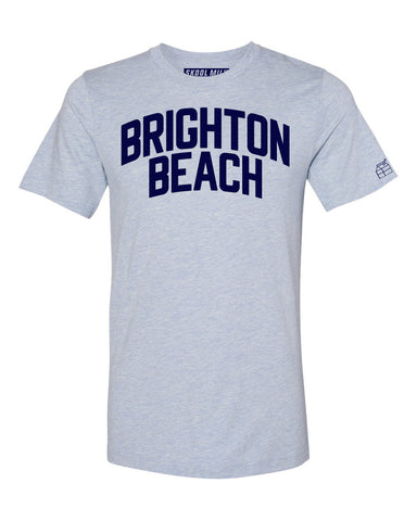 Sky Blue Brighton Beach T-shirt with Blue Letters