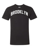 Black Brooklyn T-shirt with White Reflective Letters