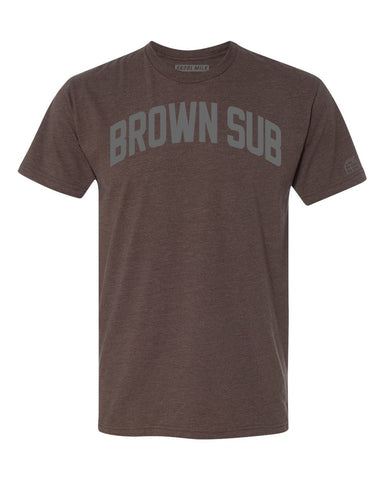 Brown Brown Sub(Brownsville) Miami T-shirt w/ Grey Reflective Letters