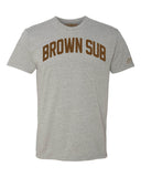Grey Brown Sub(Brownsville) Miami T-shirt w/ Brown Velvet Letters