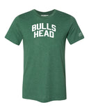 Green Bulls Head T-shirt with White Reflective Letters