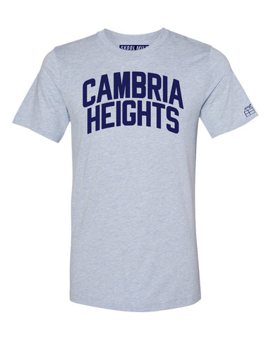 Sky Blue Cambria Heights T-shirt with Blue Letters